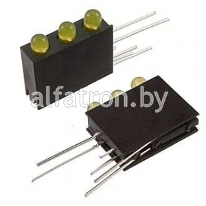 Св.диод в корпусе: 3mm*3  1.5-5v 4Lm  yellow   15