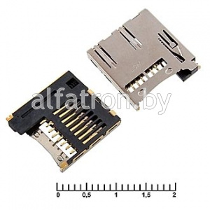 Держатель карт: micro-SD SMD 8pin ejector 02A